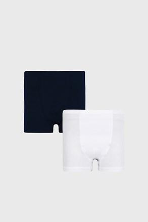 2 PACK nebiesko-białych chłopięcych bokserek Basic