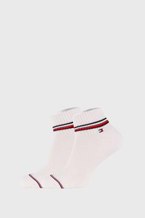 2 PACK białych skarpetek do kostek Tommy Hilfiger Iconic