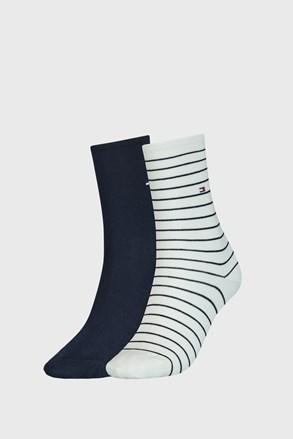 2 PACK niebiesko-białych damskich skarpetek Tommy Hilfiger Stripes