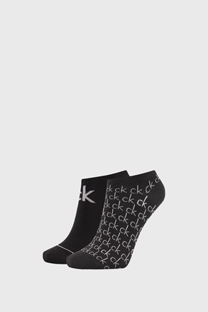 Dwupak czarnych damskich skarpetek Calvin Klein Callie