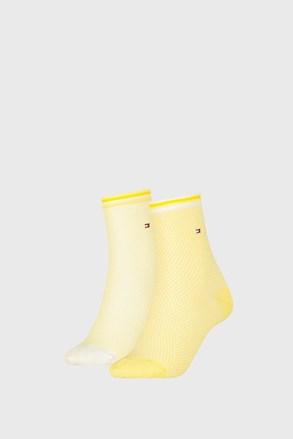 2 PACK damskich skarpetek Tommy Hilfiger Honeycomb Yellow