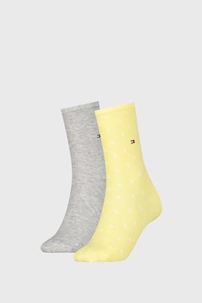 2 Pck damskich skarpetek Tommy Hilfiger Dot Yellow