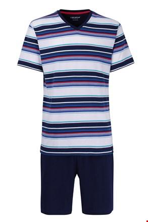 Męska piżama Red 5XL Plus nie gniotąca się