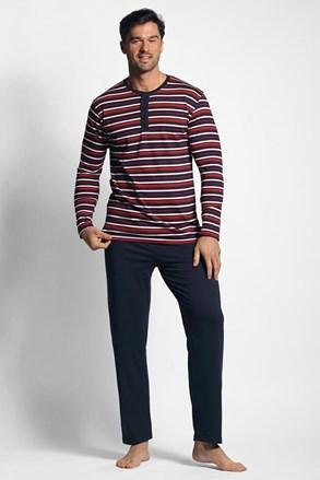 Czerwono-niebieska piżama w paski