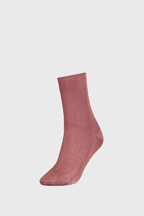 Damskie różowe skarpetki Tommy Hilfiger Small Rib