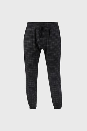 Czarne spodnie w kratę PJ Drake