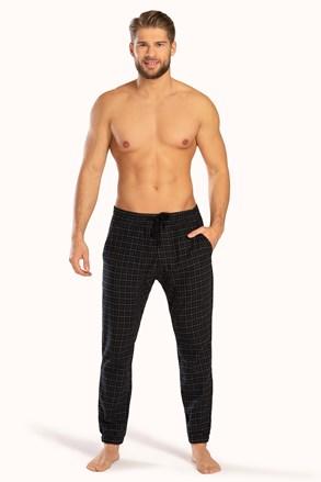 Czarne spodnie w kratkę PJ Drake