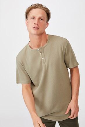 T-shirt khaki Henley