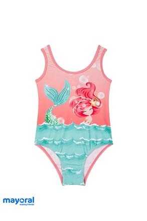 Jednoczęściowy dziewczęcy kostium kąpielowy Mayoral Morska Syrena