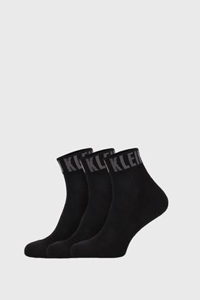 3 PACK czarnych skarpetek Calvin Klein Drake