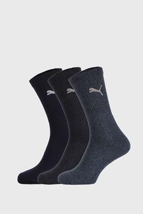 3 PACK ciemnoniebieskich skarpetek Puma Sport