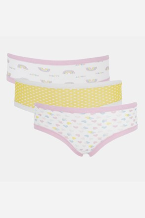 3 PACK dziewczęcych fig Basic Cotton Rainbow