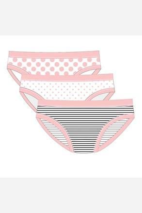 3 PACK dziewczęcych fig Pink Line