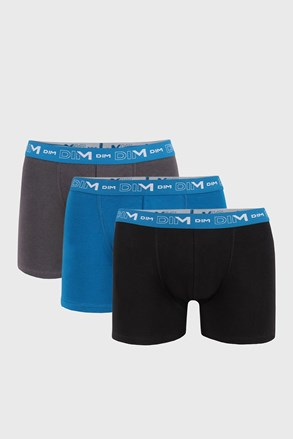 3 PACK męskich bokserek DIM Cotton Stretch