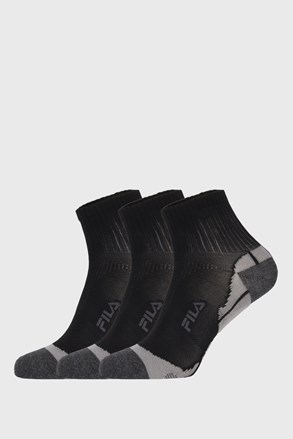 3 PACK czarnych skarpetek FILA Multisport