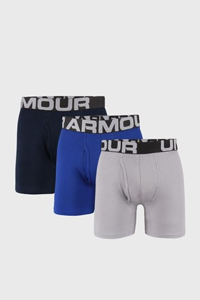3 PACK niebiesko-szarych bokserek Under Armour Cotton