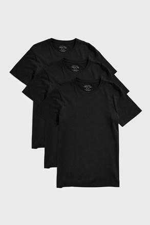 Czarna koszulka Austin 3 PACK