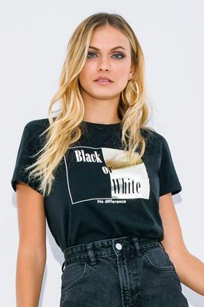 Damski T-shirt z krótkim rękawem Black or White