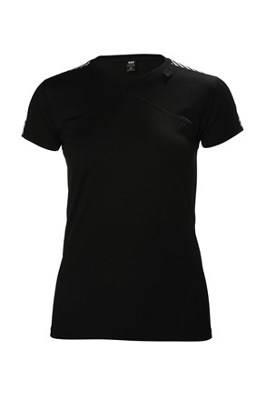 Czarny damski T-shirt Helly Hansen