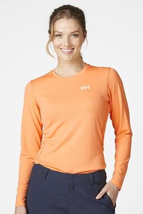 Pomarańczowy T-shirt z długimi rękawami Helly Hansen