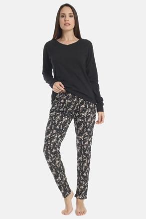 Damska piżama Flowery Black