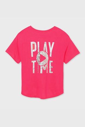 Dziewczęcy T-shirt Mayoral Playtime różowy