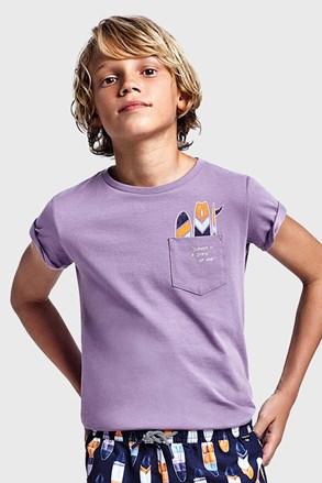 Chłopięcy T-shirt Mayoral Grape fioletowe