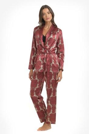 Satynowa piżama Leopard