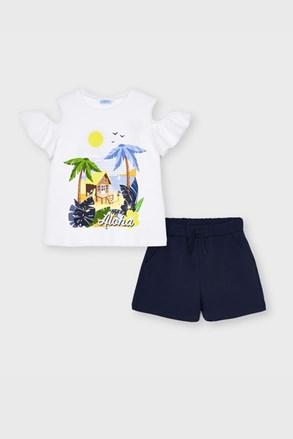 Dziewczęcy komplet: T-shirt i szorty Mayoral Aloha