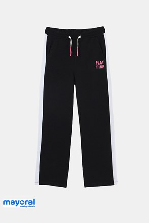 Dziewczęce spodnie dresowe Mayoral Playtime czarne