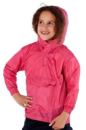 Dziecięca nieprzemakalna kurtka w kieszonce ProClimate różowa