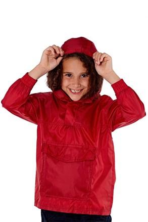 Dziecięca nieprzemakalna kurtka w kieszonce ProClimate czerwona