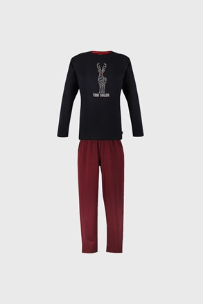 Granatowo-czerwona piżama Tom Tailor Deer