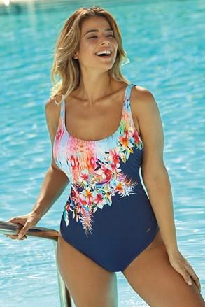 Jednoczęściowy damski kostium kąpielowy Floral II