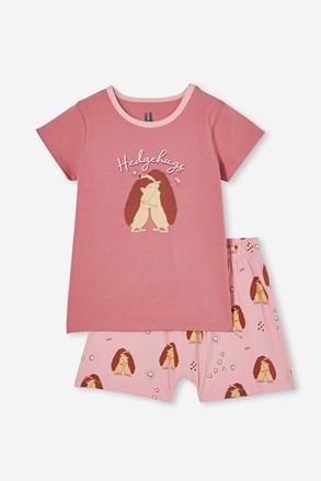 Dziewczęca piżama Hedgehog Hugs krótka