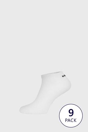 Dziewięciopak białych skarpetek do kostek Umbro