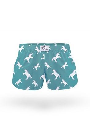 Luźne szorty piżamowe dla dzieci ELKA LOUNGE w jednorożce