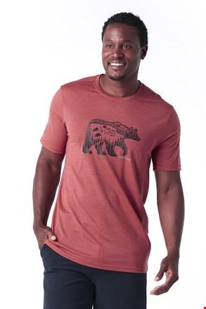Męski T-shirt SMARTWOOL Merino 150 czerwony