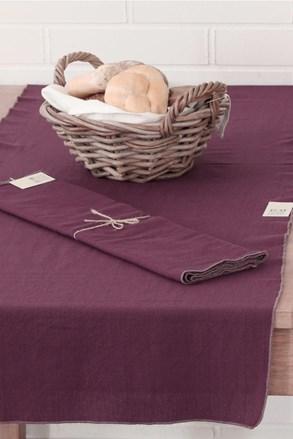 Bieżnik na stół z ozdobnym lamowaniem Home Design fioletowy
