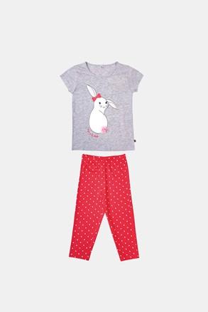 Dziewczęca piżama Buny szaro-pomarańczowa