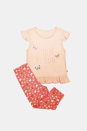 Dziewczęca piżama Lila pomarańczowa