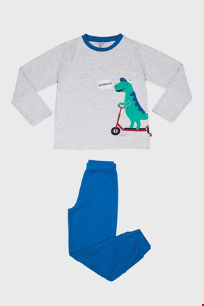 Piżama chłopięca Dino szara