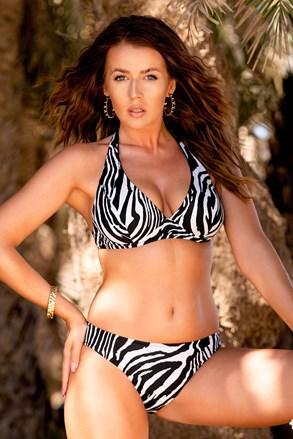 Dwuczęściowy damski kostium kąpielowy Borneo Zebra