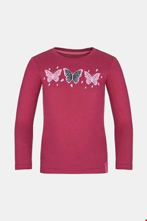 Dziewczęcy T-shirt LOAP Bifie ciemnoróżowy