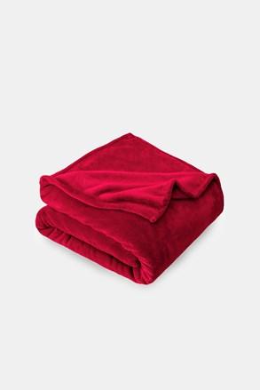 Mikropluszowy koc czerwony