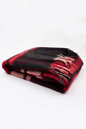 Luksusowy koc z nowozelandzkiej wełny czerwony