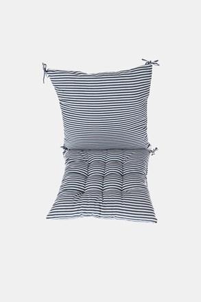 KOMPLET poduszki na krzesło z podkładką niebiesko-biały