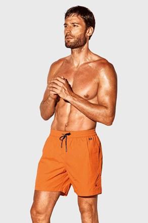 Pomarańczowe szorty kąpielowe David 52 Caicco