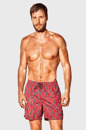 Czerwone szorty kąpielowe David 52 Caicco