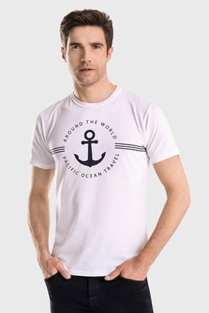 Biały T-shirt David 52 Captain Blues
